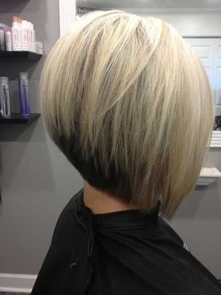 30 Super Hot Stacked Bob Haircuts: Short Hairstyles For Women 2018 For Dirty Blonde Bob Hairstyles (View 17 of 25)