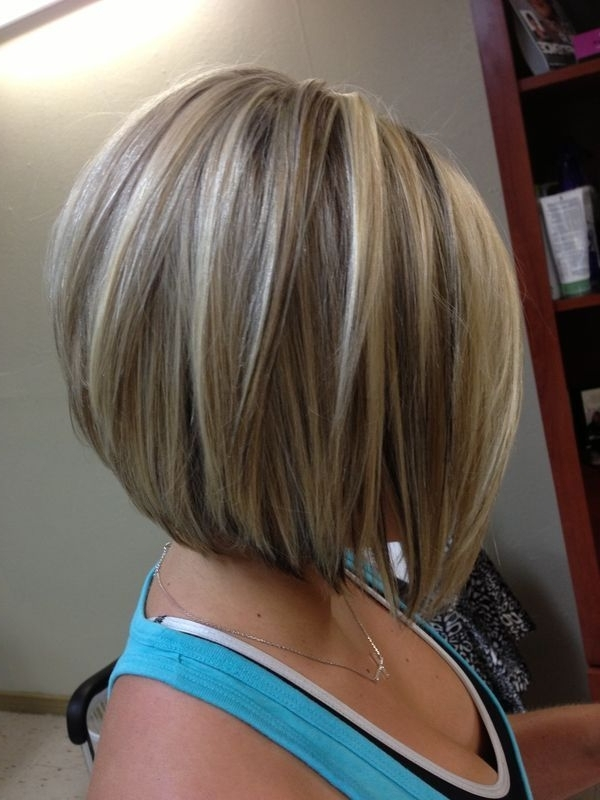 30 Super Hot Stacked Bob Haircuts: Short Hairstyles For Women 2018 With Stacked White Blonde Bob Hairstyles (View 9 of 25)