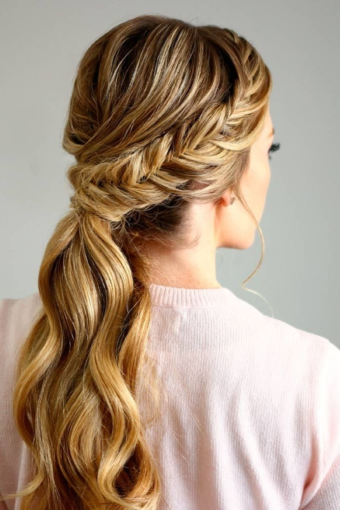 30 Totally Trendy Prom Hairstyles For 2018 To Look Gorgeous | French Throughout Trendy Ponytail Hairstyles With French Plait (View 25 of 25)