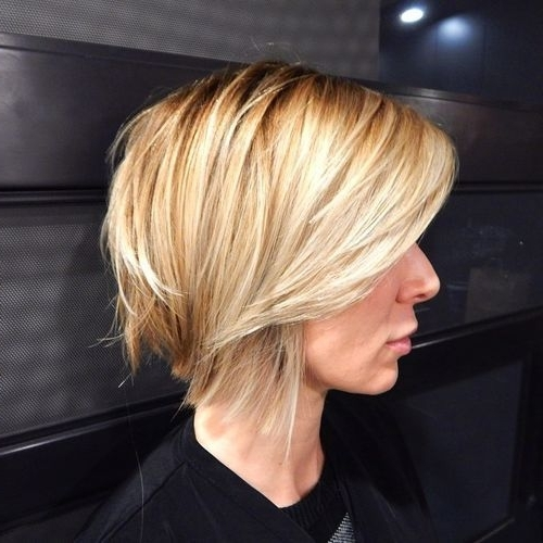 30 Trendiest Shaggy Bob Haircuts Of The Season | Hair | Pinterest With Shaggy Highlighted Blonde Bob Hairstyles (View 2 of 25)
