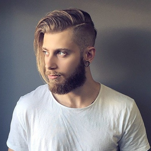 30 Trendiest Undercut Hairstyles For Men Intended For Long Top Undercut Blonde Hairstyles (View 5 of 25)
