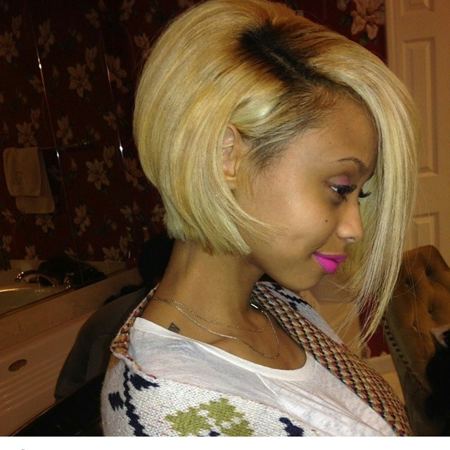 30 Trendy Bob Hairstyles For African American Women 2018 Throughout Solid White Blonde Bob Hairstyles (View 20 of 25)