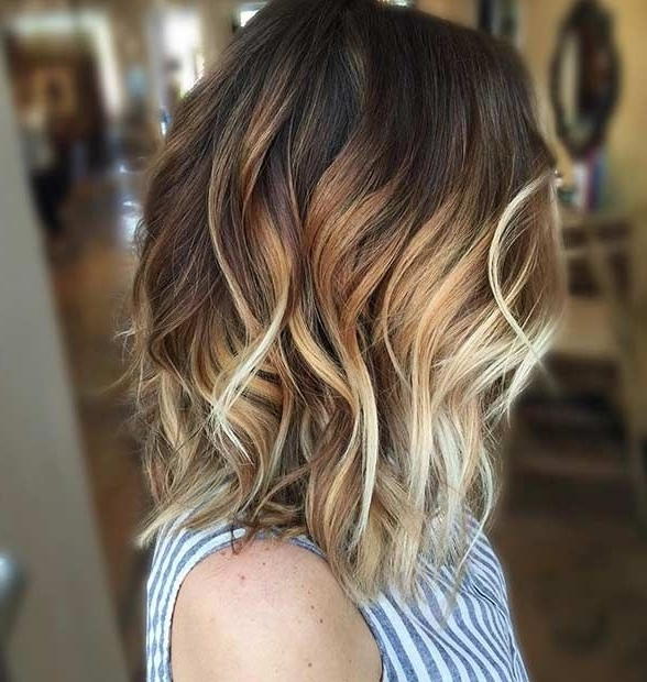 31 Balayage Hair Ideas For Summer In 2018 | Stayglam Hairstyles Throughout Volumized Caramel Blonde Lob Hairstyles (View 19 of 25)