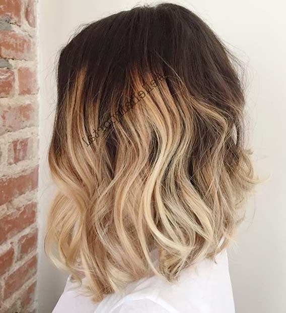 31 Best Shoulder Length Bob Hairstyles   Stayglam With Regard To Textured Medium Length Look Blonde Hairstyles (View 17 of 25)