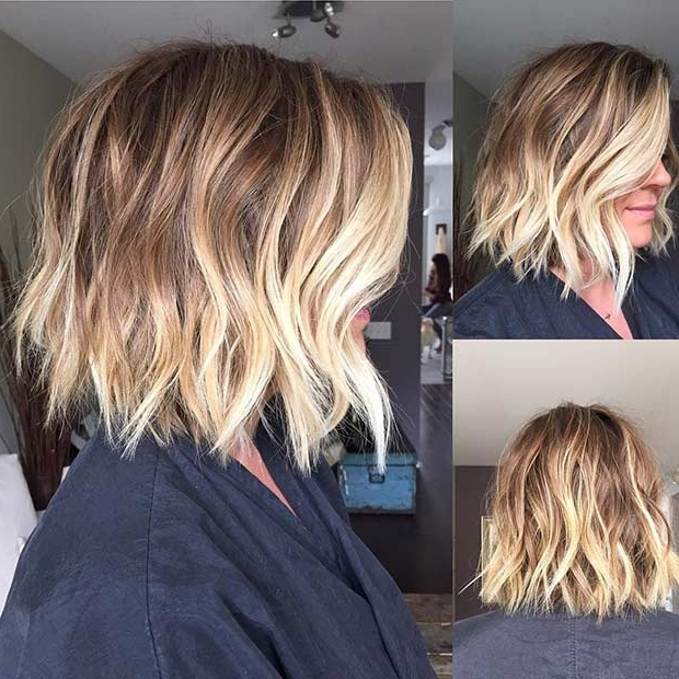 31 Cool Balayage Ideas For Short Hair | Page 2 Of 3 | Stayglam Inside Bronde Bob With Highlighted Bangs (View 18 of 25)