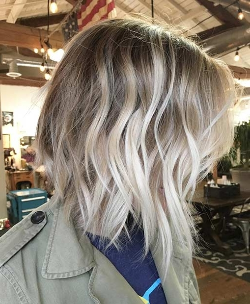 31 Cool Balayage Ideas For Short Hair | Stayglam For Icy Blonde Shaggy Bob Hairstyles (View 23 of 25)
