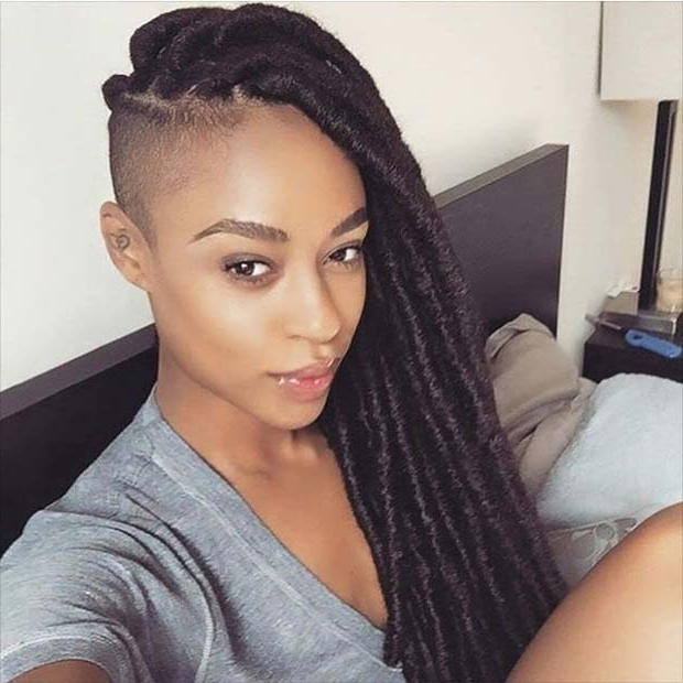 31 Faux Loc Styles For African American Women | Stayglam With Fierce Faux Mohawk Hairstyles (View 18 of 25)