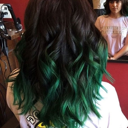 31 Glamorous Green Hairstyle Ideas | Love Ambie Intended For Blonde Hairstyles With Green Highlights (View 7 of 25)