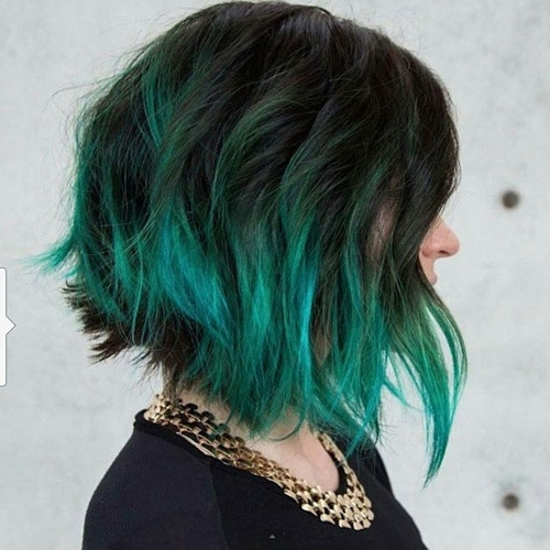 31 Glamorous Green Hairstyle Ideas | Love Ambie Pertaining To Blonde Hairstyles With Green Highlights (View 8 of 25)