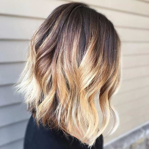 31 Gorgeous Long Bob Hairstyles | Page 2 Of 3 | Stayglam Intended For Brown Blonde Balayage Lob Hairstyles (View 14 of 25)