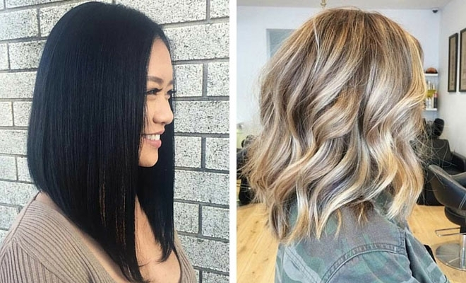 31 Gorgeous Long Bob Hairstyles | Page 2 Of 3 | Stayglam Regarding Blunt Cut White Gold Lob Blonde Hairstyles (View 20 of 25)