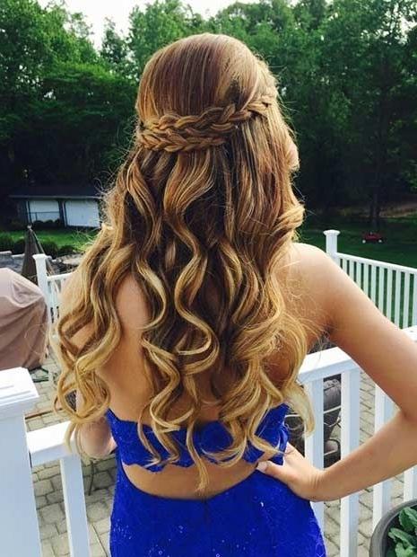 31 Half Up, Half Down Prom Hairstyles | Hoco Hair | Pinterest | Half Regarding Formal Half Ponytail Hairstyles (View 8 of 25)