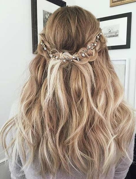 31 Half Up, Half Down Prom Hairstyles | Page 2 Of 3 | Stayglam For Formal Half Ponytail Hairstyles (View 9 of 25)