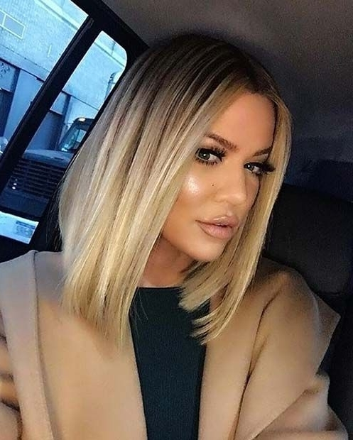 31 Lob Haircut Ideas For Trendy Women | Stayglam Hairstyles Regarding Sleek White Blonde Lob Hairstyles (View 17 of 25)