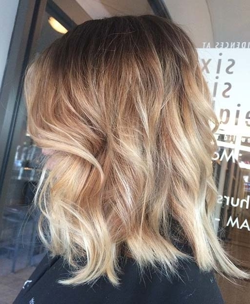 31 Lob Haircut Ideas For Trendy Women | Stayglam In Sun Kissed Blonde Hairstyles With Sweeping Layers (View 8 of 25)