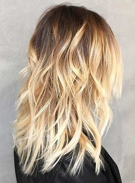 31 Stunning Blonde Balayage Looks | Page 2 Of 3 | Stayglam Regarding Dark Roots And Icy Cool Ends Blonde Hairstyles (View 10 of 25)