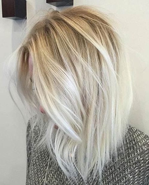 31 Stunning Blonde Balayage Looks | Stayglam Hairstyles | Pinterest With Sleek White Blonde Lob Hairstyles (View 4 of 25)