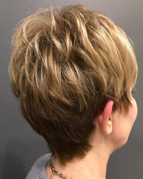 32 Cutest Hairstyles For Women Over 50 In 2018 With Regard To Most Popular Piece Y Pixie Haircuts With Subtle Balayage (View 5 of 25)