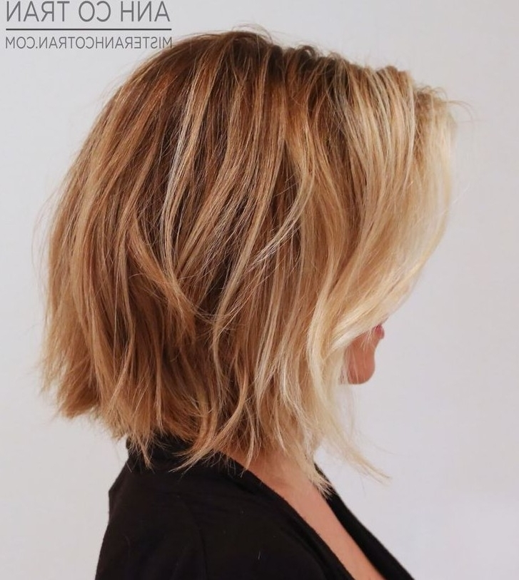 32 Hottest Bob Haircuts & Hairstyles You Shouldn't Miss – Bob In Blunt Cut White Gold Lob Blonde Hairstyles (View 11 of 25)