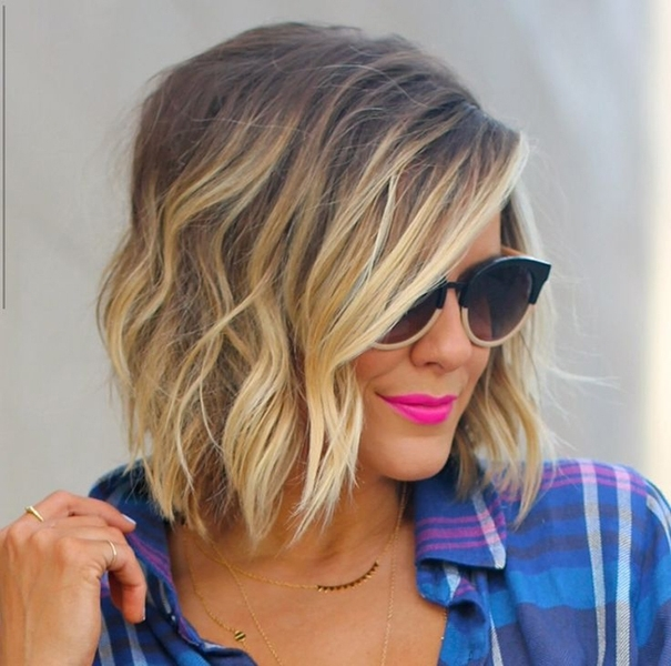 32 Hottest Bob Haircuts & Hairstyles You Shouldn't Miss – Bob Within Caramel Blonde Lob With Bangs (View 9 of 25)