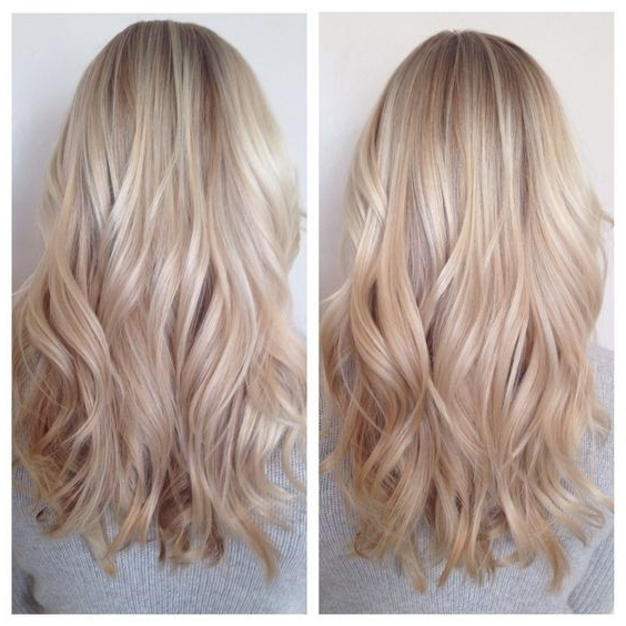 32 Pretty Medium Length Hairstyles 2017 – Hottest Shoulder Length With Regard To Blunt Cut White Gold Lob Blonde Hairstyles (View 4 of 25)