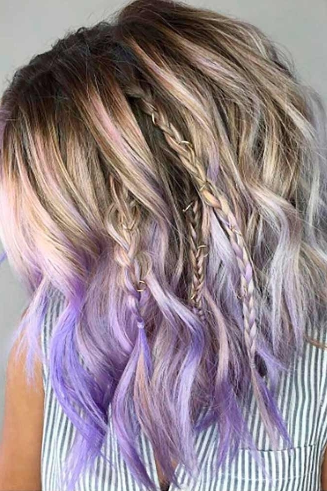 33 Cool Ideas Of Purple Ombre Hair | Hair | Pinterest | Purple Ombre In Voluminous Platinum And Purple Curls Blonde Hairstyles (View 2 of 25)