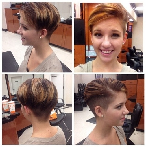 33 Cool Short Pixie Haircuts For 2018 – Pretty Designs Within Recent Uneven Undercut Pixie Hairstyles (View 8 of 25)
