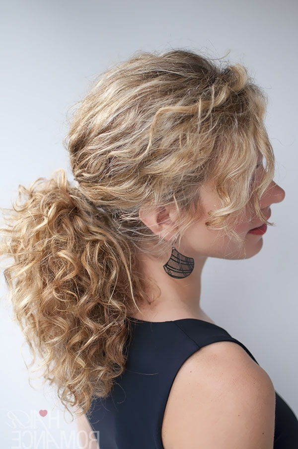 33 Modern Curly Hairstyles That Will Slay On Your Wedding Day | A Within Asymmetrical Curly Ponytail Hairstyles (View 20 of 25)