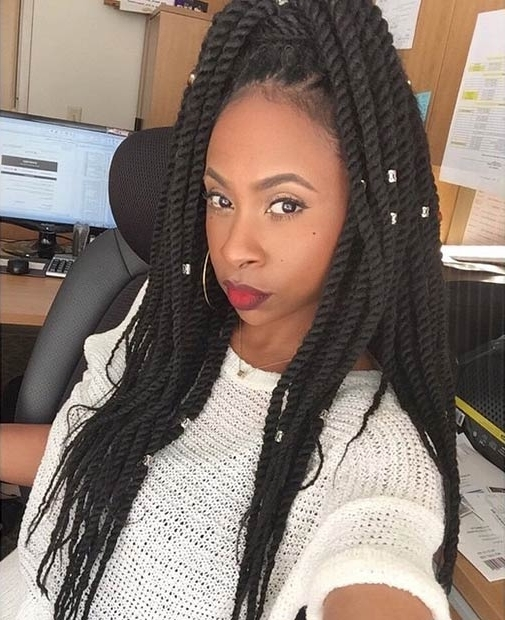 33 Short & Long Crochet Braids Hairstyles 2018 + How To Video Inside Straight High Ponytail Hairstyles With A Twist (View 9 of 25)