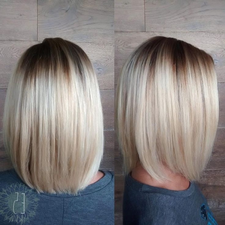 336 Best Hair Images On Pinterest | Ashy Blonde, Blondes And Regarding Rooty Long Bob Blonde Hairstyles (View 24 of 25)