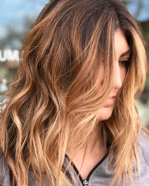 34 Light Brown Hair Colors That Are Blowing Up In 2018 In Light Copper Hairstyles With Blonde Babylights (View 7 of 25)