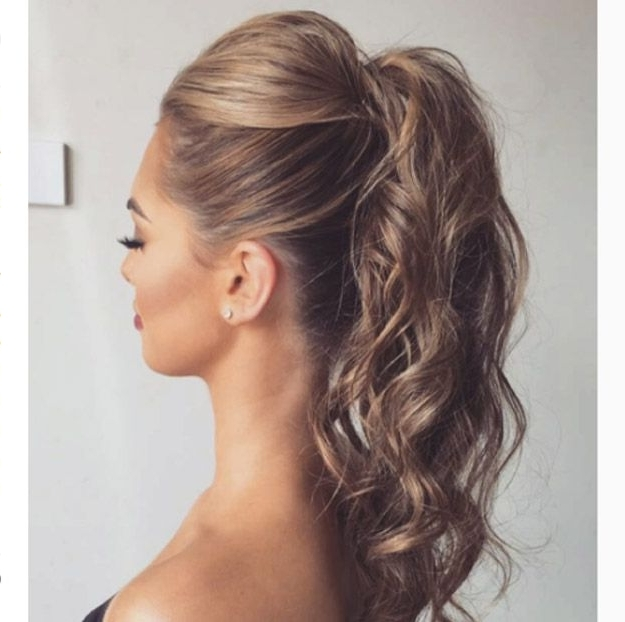 34 Super Sexy Hairstyles   34 Super Sexy Hairstyles   Pinterest Inside Voluminous Pony Hairstyles For Wavy Hair (View 3 of 25)