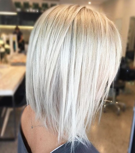 35 Best Medium Blonde Lob Hairstyles – Blonde Hairstyles 2017 Regarding Icy Blonde Shaggy Bob Hairstyles (View 10 of 25)