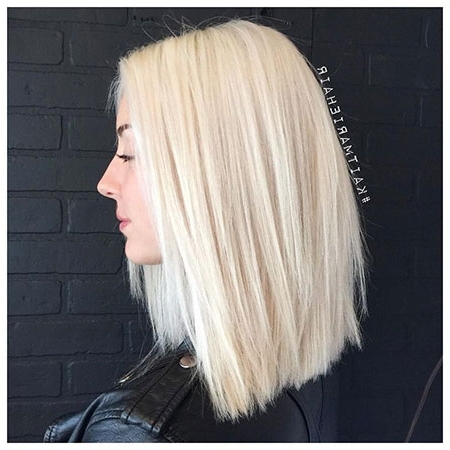 35 Best Medium Blonde Lob Hairstyles – Blonde Hairstyles 2017 Regarding Sleek White Blonde Lob Hairstyles (View 19 of 25)