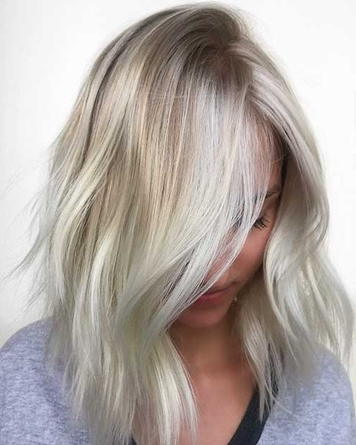 35+ Best Short Blonde Hairstyles – Love This Hair Inside Icy Blonde Shaggy Bob Hairstyles (View 11 of 25)