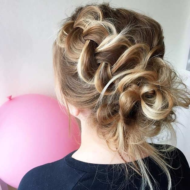 35 Gorgeous Updos For Bridesmaids | Page 3 Of 3 | Stayglam With Regard To Messy Ponytail Hairstyles With A Dutch Braid (View 10 of 25)