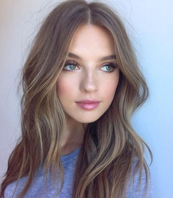 35 Smoky And Sophisticated Ash Brown Hair Color Looks Pertaining To Dishwater Blonde Hairstyles With Face Frame (View 3 of 25)