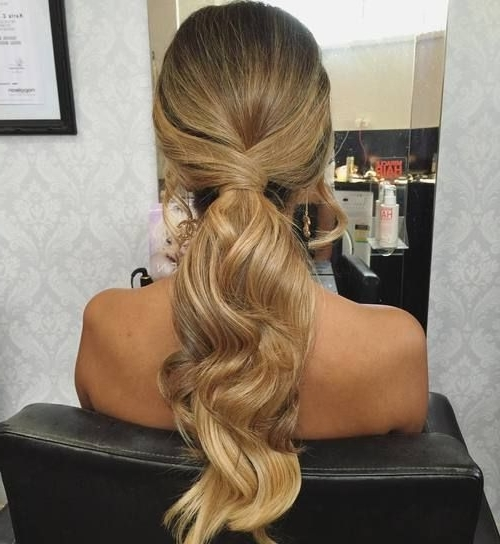 35 Super Simple Messy Ponytail Hairstyles | Hair And Now | Pinterest Intended For Long Blond Ponytail Hairstyles With Bump And Sparkling Clip (View 3 of 25)