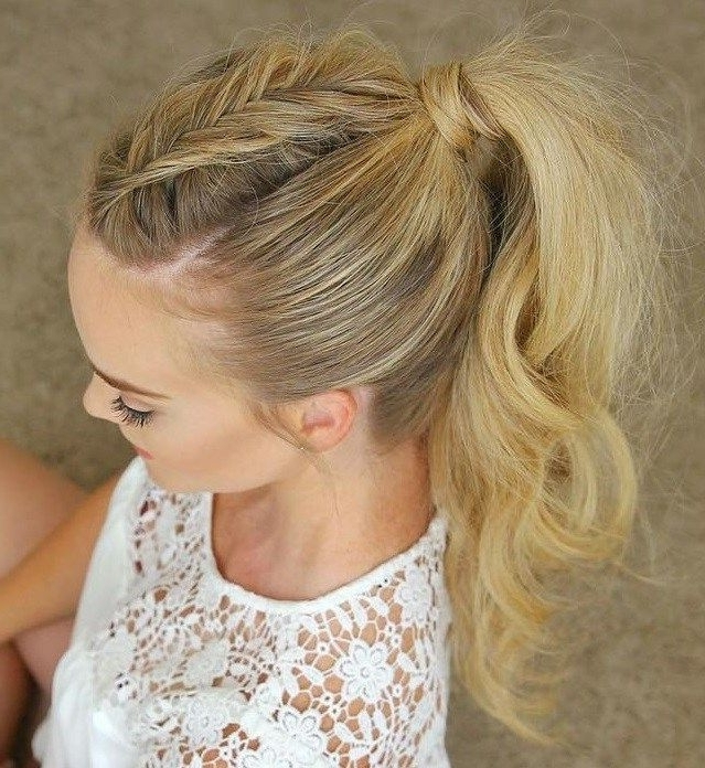 35 Super Simple Messy Ponytail Hairstyles | Hair Styles | Pinterest Throughout High And Tousled Pony Hairstyles (View 3 of 25)