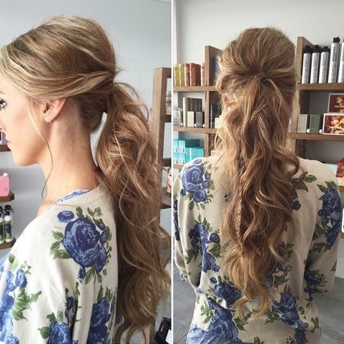 Featured Photo of Bouffant And Braid Ponytail Hairstyles