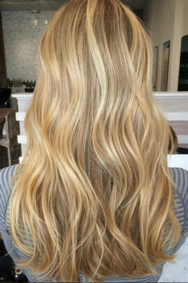 36 Blonde Balayage Hair Color Ideas With Caramel, Honey, Copper Within Light Copper Hairstyles With Blonde Babylights (View 4 of 25)