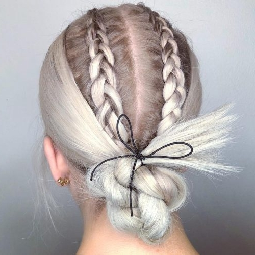 36 Cute French Braid Hairstyles For 2018 In Platinum Braided Updo Blonde Hairstyles (View 16 of 25)