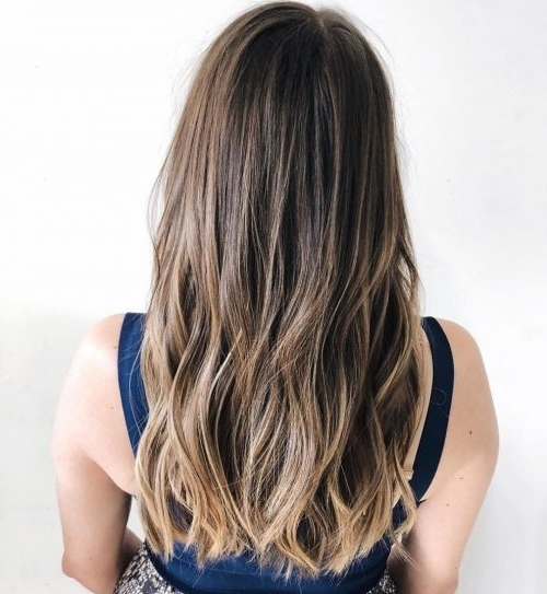 36 Perfect Hairstyles For Long Thin Hair (Trending For 2018!) For Brown And Dark Blonde Layers Hairstyles (View 8 of 25)
