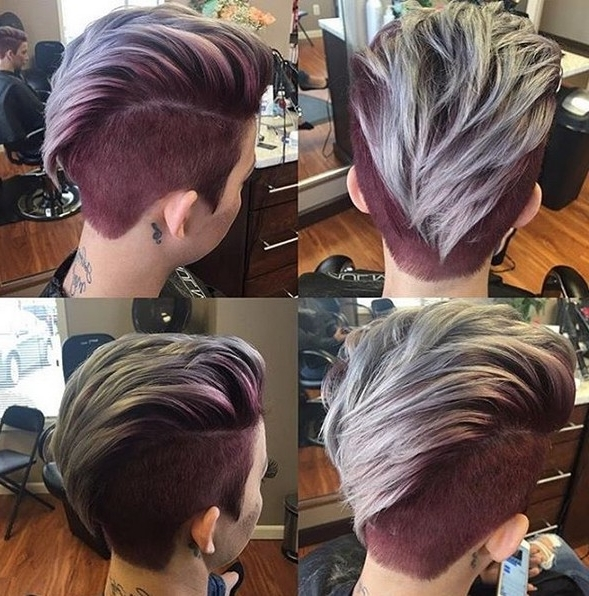 360 Pixie Haircut View – Shaved Short Hairstyle For Thick Hair With Regard To Most Current Two Tone Pixie Hairstyles (View 14 of 25)