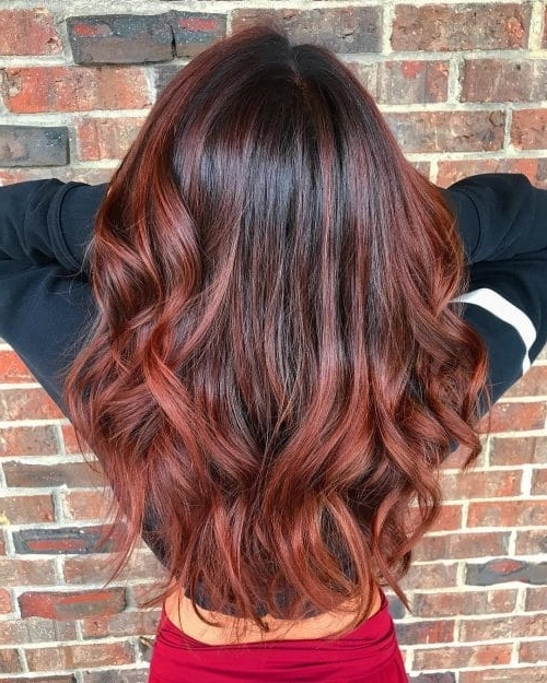 37 Best Red Highlights In 2018 For Brown, Blonde & Black Hair Throughout Maple Bronde Hairstyles With Highlights (View 10 of 25)