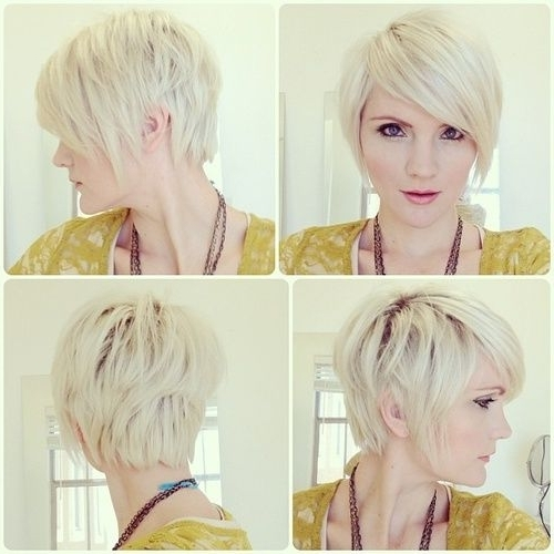 37 Trendy Short Hairstyles For Women [August, 2018] In Bi Color Blonde With Bangs (View 9 of 25)