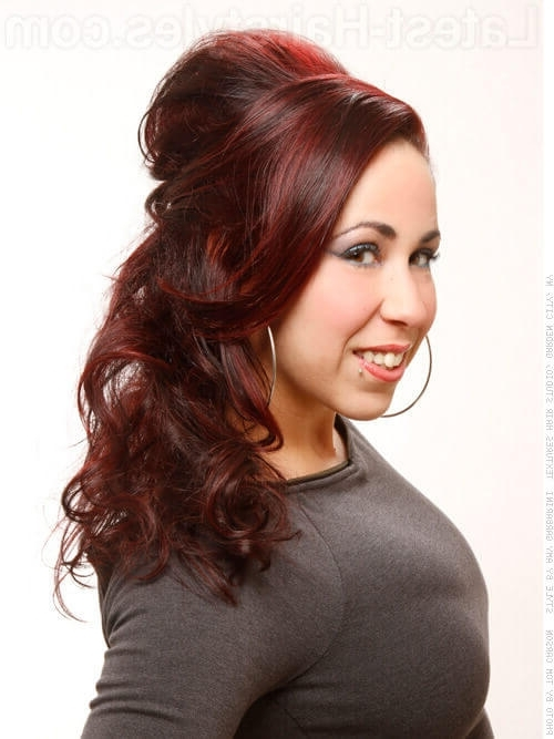 38 Cute Prom Hairstyles Guaranteed To Turn Heads Within Half Up Curly Do Ponytail Hairstyles (View 14 of 25)