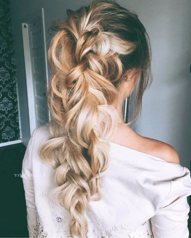 38 Glam Ponytail Tutorials – Page 3 Of 4 – The Goddess Intended For Long Messy Pony With Braid (View 20 of 25)