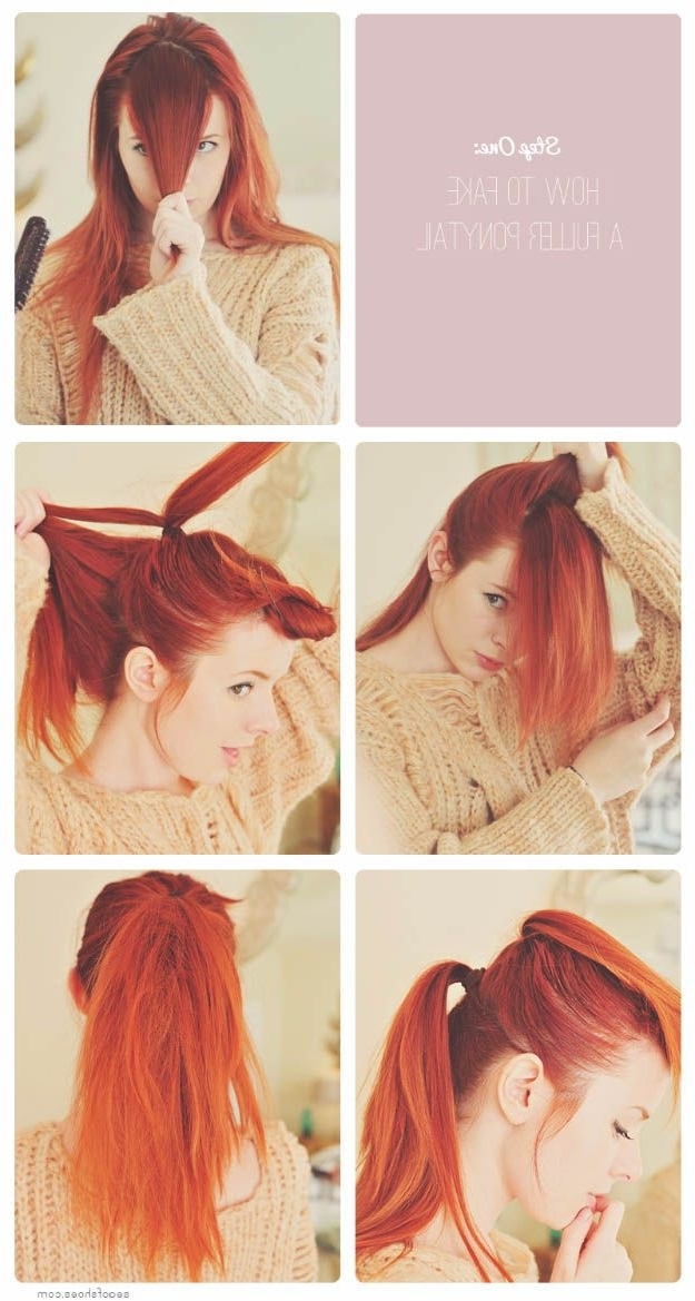 38 Glam Ponytail Tutorials | Pinterest | Ponytail Tutorial, Ponytail Throughout Glam Ponytail Hairstyles (View 9 of 25)