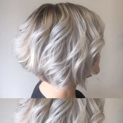 38 Incredible Silver Hair Color Ideas In 2018 In Glamorous Silver Blonde Waves Hairstyles (View 9 of 25)